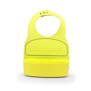 Dare-U-Go Baby Bib and Food Container In One - Yellow