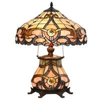 Tiffany Style Lamp Victorian Jeweled Desk Lamp Floral Stained Glass Home Decor Lighting Table Lamp