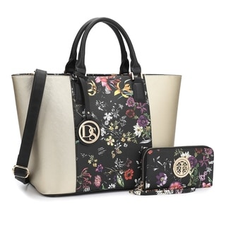 Link to Dasein Classic Medium Tote Bag with Matching Wallet Similar Items in Shop By Style