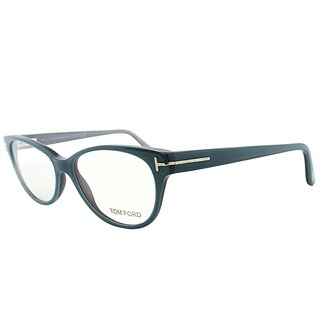 Tom Ford Cat-Eye FT 5292 089 Women Turquoise Green Frame Eyeglasses