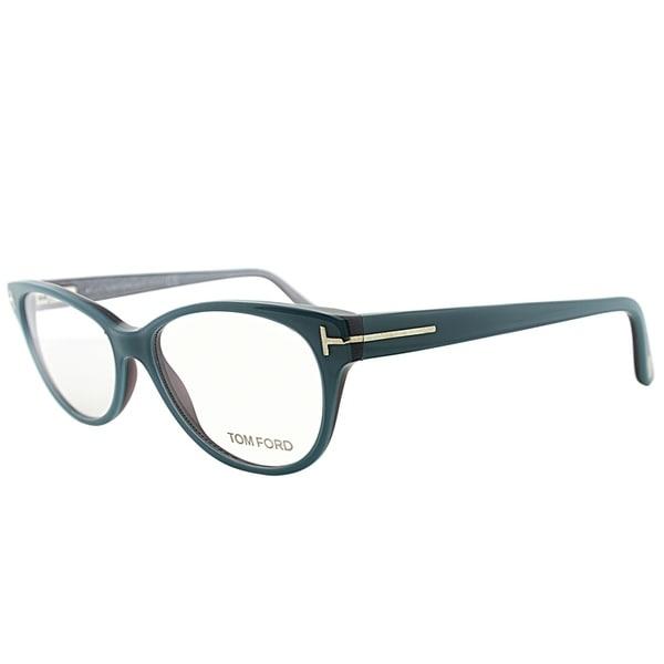 6fd084ade449 Tom Ford Cat-Eye FT 5292 089 Women Turquoise Green Frame Eyeglasses