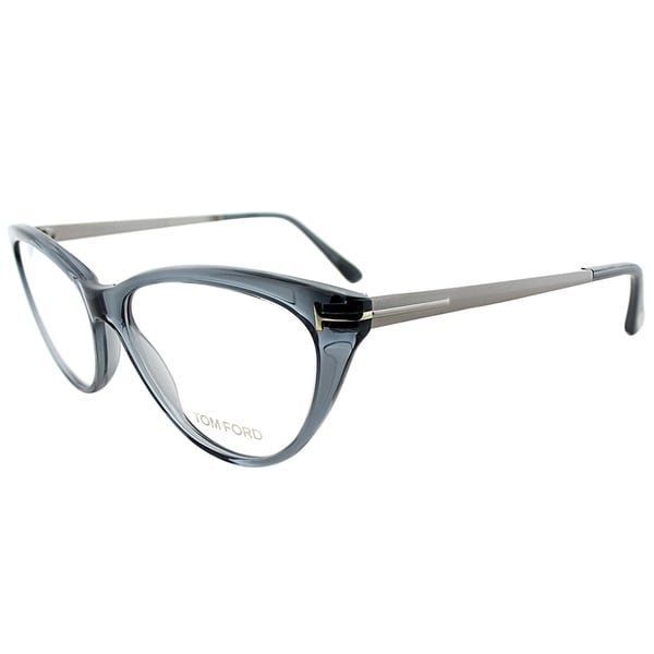 2eb7eb064421 Shop Tom Ford Cat-Eye FT 5354 020 Women Grey Frame Eyeglasses ...