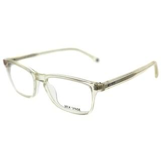 Jack Spade Rectangle JS Graham 1G5 Unisex Vintage Crystal Frame Eyeglasses