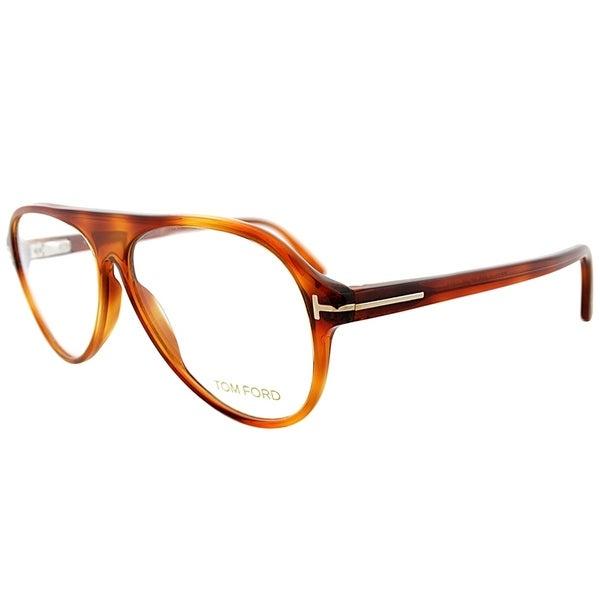 6ddb7e5ffa4b Shop Tom Ford Aviator FT 5319 053 Unisex Havana Frame Eyeglasses ...