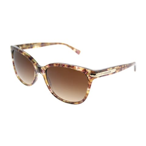 Coach Cat-Eye HC 8132 L19 528713 Women Confetti Light Brown Frame Brown Gradient Lens Sunglasses