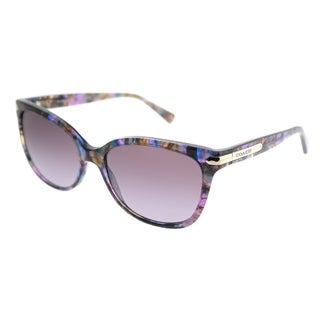 Link to Coach Cat-Eye HC 8132 L19 52888H Women Confetti Purple Frame Purple Gradient Lens Sunglasses Similar Items in Women's Sunglasses