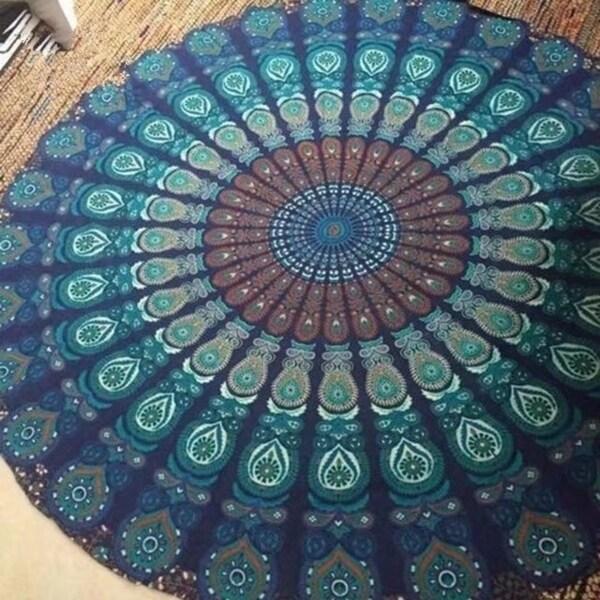 Bohemian Style Round Beach Towel 59 Inch