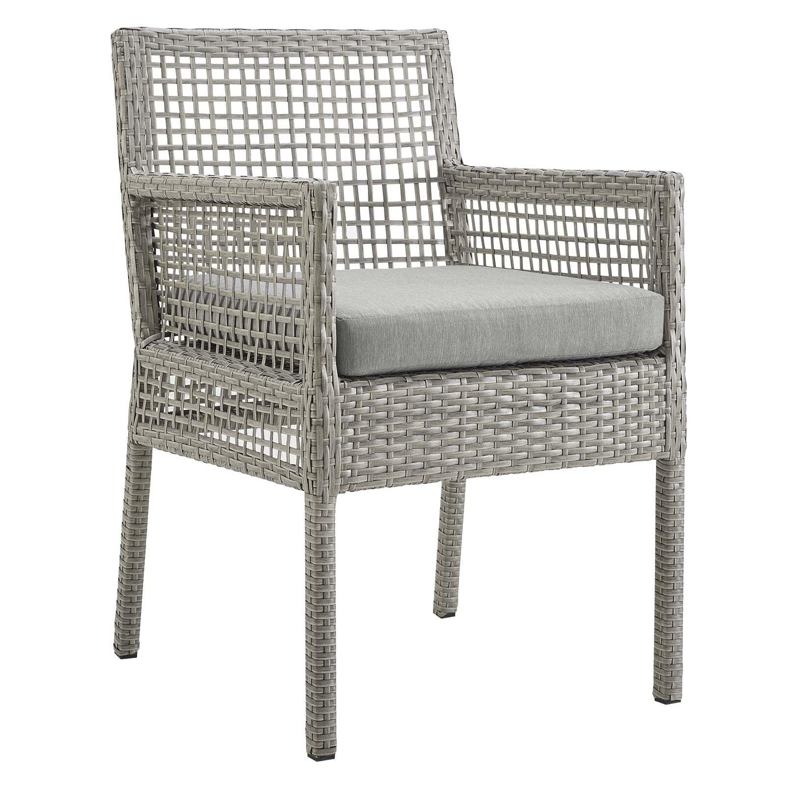 Astounding Aura Outdoor Patio Wicker Rattan Dining Armchair Ncnpc Chair Design For Home Ncnpcorg