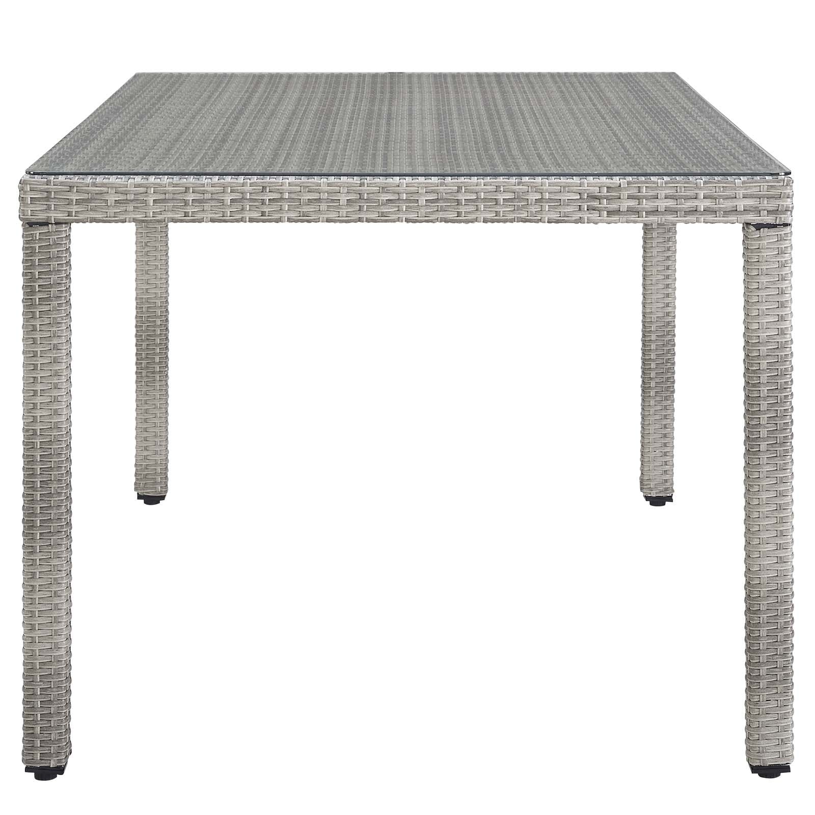 Aura 68 Wicker Rattan Dining Table Grey