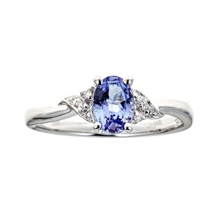 925 Sterling Silver Tanzanite Ring by Anika and August - White