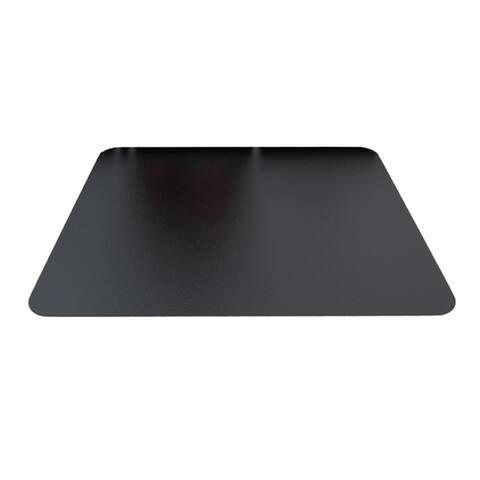 "Deflecto Black Mat 45"" x 53"" Rectangle-Hard Floor"