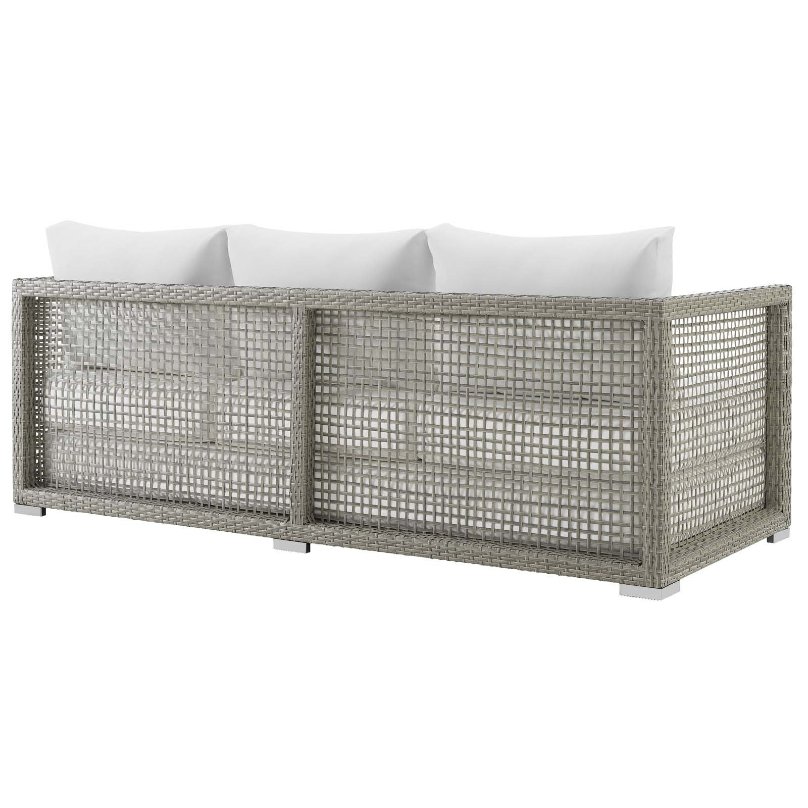 Aura Outdoor Patio Wicker Rattan Sofa