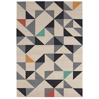 Geometric Maze Cream Multi