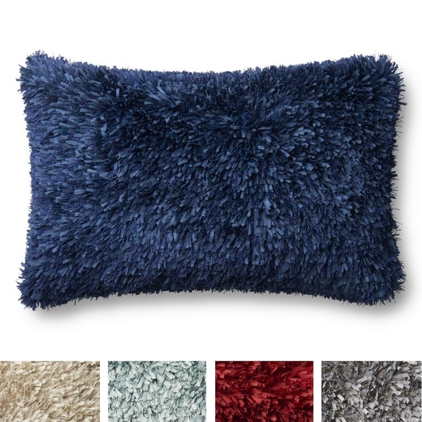 Shop Solid Ribbon Shag Rectangle 13 X 21 Throw Pillow Or