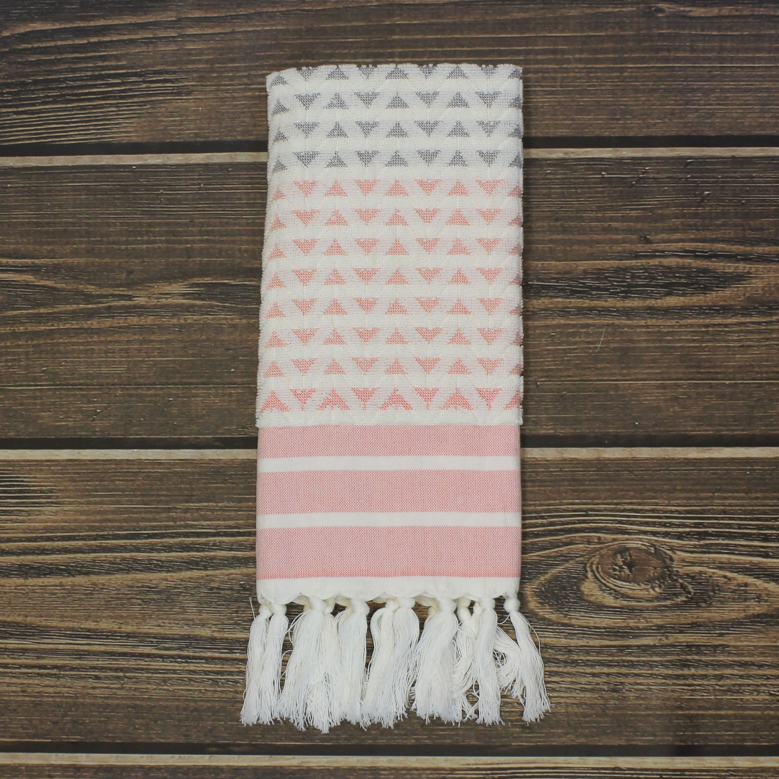 Sculpted Chevron Pattern Kitchen Towels By Peach And Oak Overstock 20748528