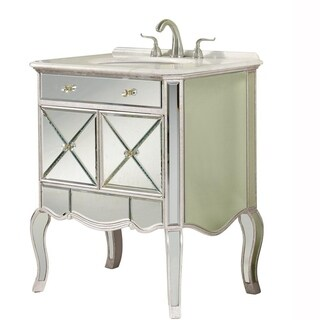 Indigo Home 2 door vanity cabinet 30 in. x 21 in. x 36 in. in Silver Leaf