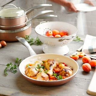 Trisha Yearwood Ceramic Nonstick 9.5-inch & 12-inch Frypan Set (2 options available)