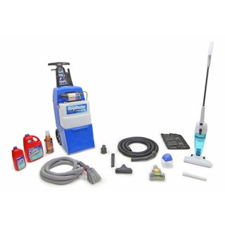Rug Doctor Wide Track Carpet Shampooer With Pre-Clean kit, Air Purifier, Black&Decker StickVac