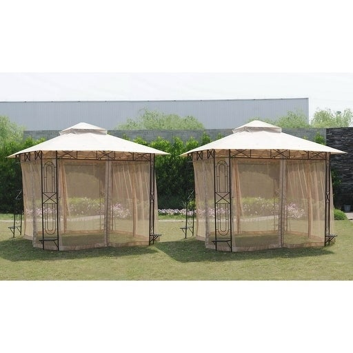 Shop Sunjoy Replacement Mosquito Netting For 10x10 Gazebo Free