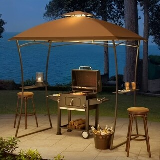 Sunjoy Replacement Canopy set for L-GG035PST Domed top grill gazebo