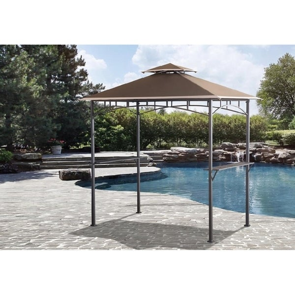 Sunjoy Replacement Canopy Set For L Gg001pst H Grill Gazebo