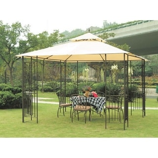 Link to Sunjoy Replacement Small Canopy for G-GZ077PST Leaf Gazebo (As Is Item) Similar Items in As Is