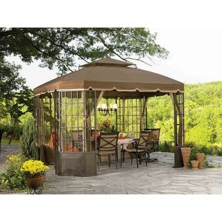 Sunjoy Replacement Canopy set (Deluxe) for L-GZ120PST-2S Go Bay Window Gazebo (As Is Item)