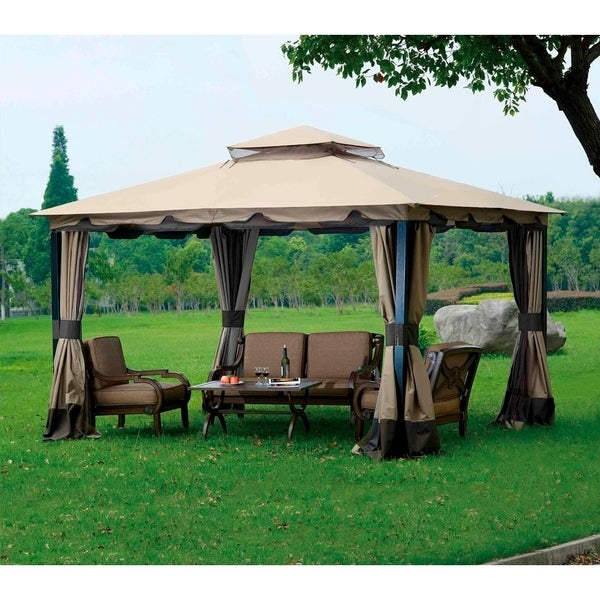 Sunjoy Replacement Canopy Set For L Gz215pst 4 10x12 Monterey Gazebo