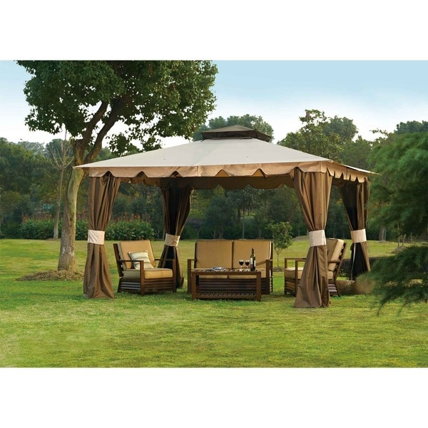 Sunjoy Replacement Canopy Set For L Gz215pst 5b 10x12 Hampton Gazebo