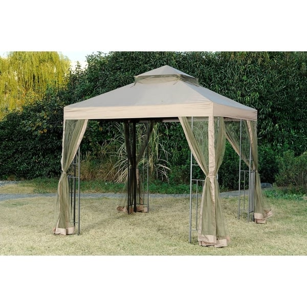 Sunjoy Replacement Mosquito Netting For L Gz385pst D 8x8 Lansing Gazebo Overstock 20749051