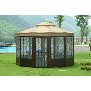 Link to Sunjoy Replacement Canopy set (Deluxe) for L-GZ050PST-4 Sunhouse Gazebo (As Is Item) Similar Items in As Is