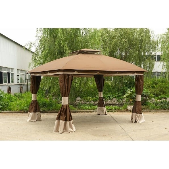 Sunjoy Replacement Canopy Set Deluxe For L Gz215pst 4b 10x12 Healdsburg Gazebo Free Shipping Today 20749058