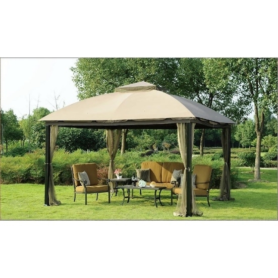 Sunjoy Replacement Canopy Set For L Gz215pst B 10x12 Malibu Gazebo