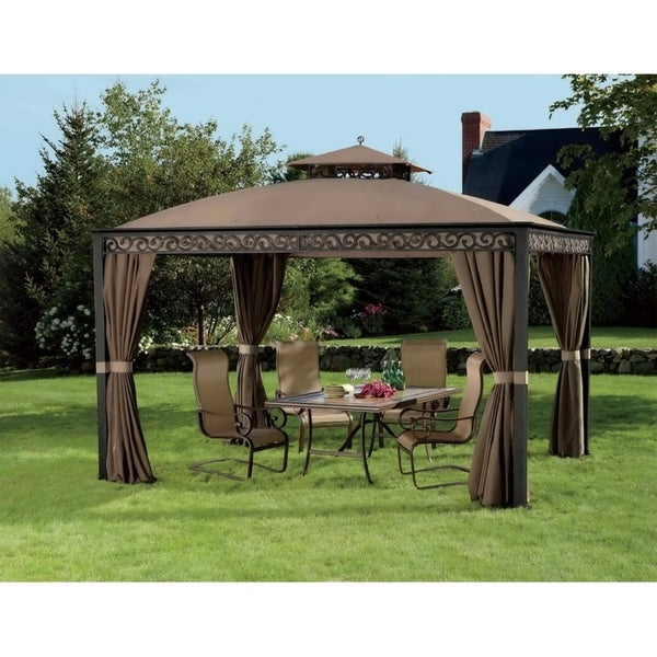 Shop Sunjoy Replacement Canopy Set Deluxe For L Gz399pal