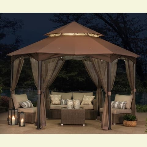 Sunjoy Replacement Canopy Set for Gazebo Model L-GZ793PST-A