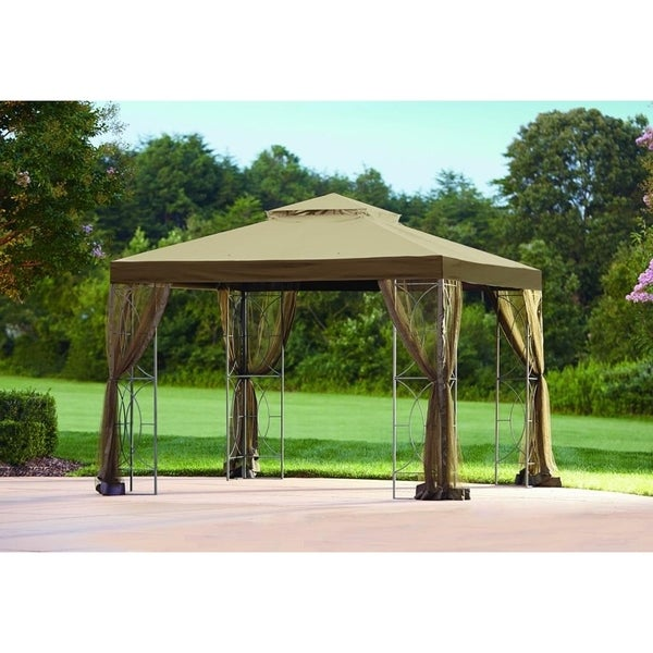 Sunjoy Replacement Mosquito Netting For L Gz813pst 10x10 Callaway Gazebo Free Shipping Today 20749132