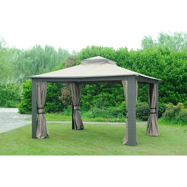 Sunjoy Replacement Curtain for L-GZ815PST-C 10X12 Gazebo