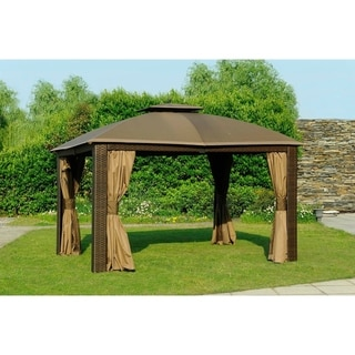Sunjoy Replacement Mosquito Netting for Small Top Canopy L-GZ815PST 10X12 Sonoma Wicker Gazebo (As Is Item)