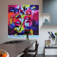 """Color Portrait Full Color Wall Decal Sticker AN-465 FRST Size52""""x52"""""""