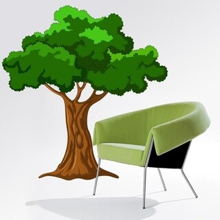 """Painted Tree Full Color Wall Decal Sticker AN-497 FRST Size 52""""x52"""""""