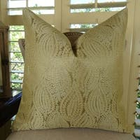 Thomas Collection Gold Paisley Designer Accent Pillow, Handmade in USA, 11015