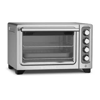 KitchenAid Compact Contour Silver Non-Stick Interior Countertop Toaster Oven