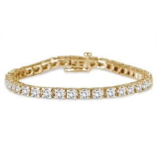 AGS Certified 5 Carat TW Classic Diamond Tennis Bracelet in 14K Yellow Gold