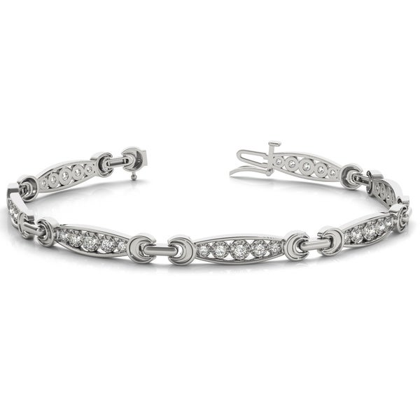 3 8 Carat Tw Diamond Bracelet In 10k White Gold