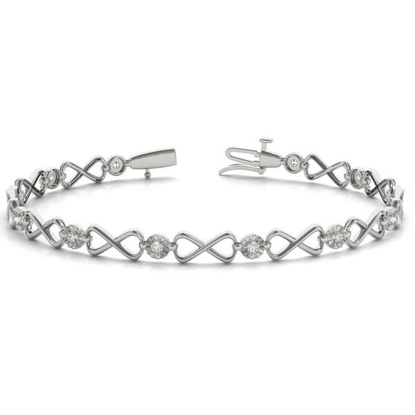 1 4 Carat Tw Diamond Infinity Bracelet In 10k White Gold
