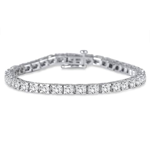 Premium Quality: 5 Carat TW Classic Diamond Tennis Bracelet in 14K White Gold (H-I Color, SI1-SI2 Clarity)