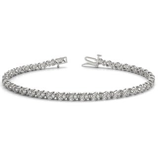 3/8 Carat TW Diamond Bracelet in 10K White Gold