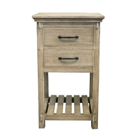 """35""""Rustic Solid Fir side Cabinet"""