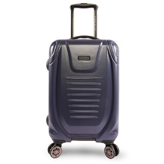 Perry Ellis Bauer 21-inch Hardside Spinner Suitcase, Navy