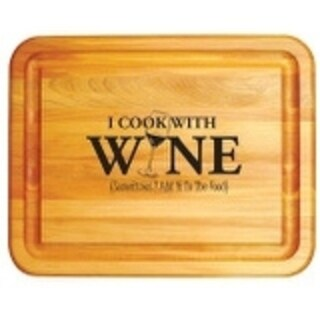 I Cook With Wine Branded Board